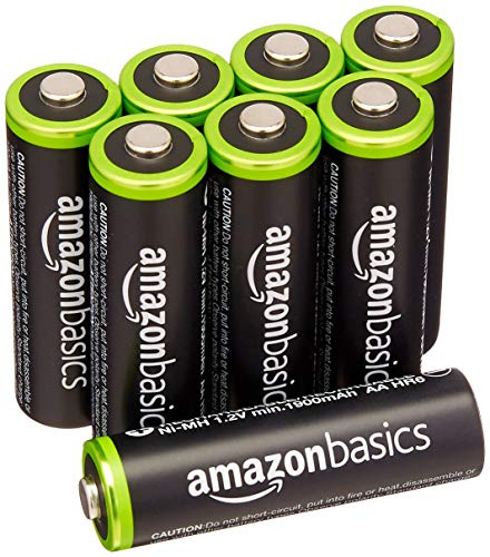 Recommended Amazon Basics AA Rechargeable Batteries (8-Pack)