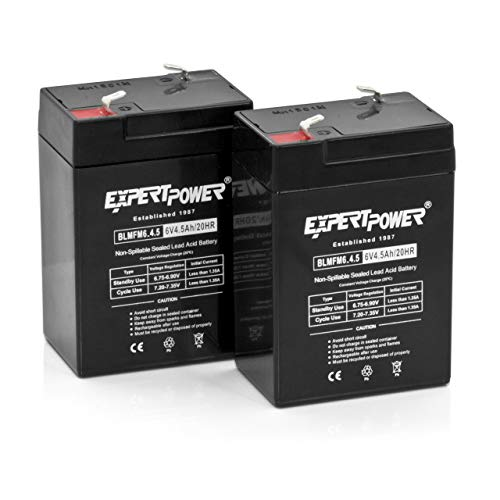 Expertpower 6 Volt 4.5 Amp Rechargeable Battery (exp645), 2 Count
